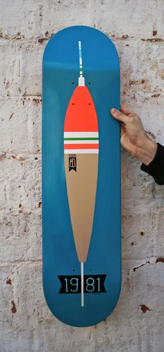 | 1981 Handmade skateboard deck by Unknown | TheDailyBoard.tumblr.com | With Great Ideas, Comes Great Skateboards