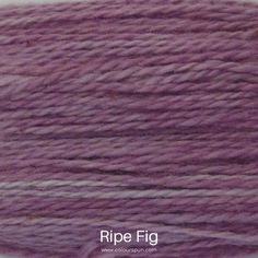A ColourSpun Pure Cotton yarn and embroidery thread colour swatch. This colour is called Ripe Fig Colour Swatches, Super Chunky Yarn, Fabric Yarn, Embroidery Thread, Color Inspiration, Fabric Design, Weaving, Knitting, Fig