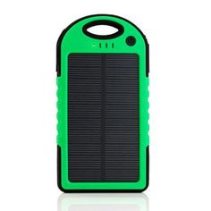 5000mAh Portable Shockproof Waterproof Solar Charger Battery Panal Double USB Power Bank for Cell Phone MP3 - Green - Walmart.com