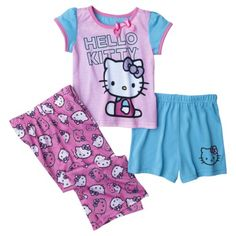 Hello Kitty Girls Long-Sleeve Pajama Set : Target | If I Ever Have ...