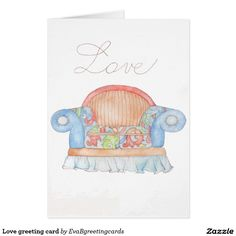 Shop Love greeting card created by EvaBgreetingcards. Personalise it with photos & text or purchase as is! It's Your Birthday, Birthday Cards, Watercolour, Greeting Cards, Bday Cards, Pen And Wash, Watercolor Painting, Watercolor, Birthday Greetings