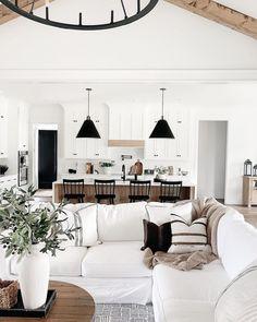 Dream Home Design, My Dream Home, Home Interior Design, House Design, Home Living Room, Living Room Decor, Living Spaces, Home Decor Inspiration, Home Kitchens