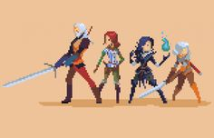 Check Out This Bewitching Pixel Art Of Geralt And The Gang