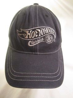 brand new 46a47 be655 Hot Wheels Classics Hat Ball Cap Blue Embroidered Logo Adult Adjustable