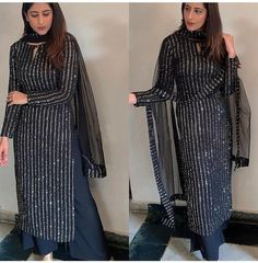 Party Wear Indian Dresses, Pakistani Fashion Party Wear, Designer Party Wear Dresses, Pakistani Dresses Casual, Indian Fashion Dresses, Dress Indian Style, Pakistani Dress Design, Black Pakistani Dress, Pakistani Gowns