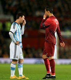 Messi and Ronaldo chatting