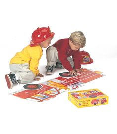 180b32f73e0 Giant Fire Engine Floor Puzzle - Carson Dellosa Publishing Education  Supplies Carson Dellosa