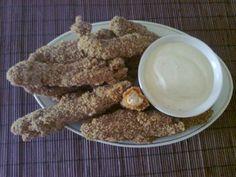 Montignac crispy strips with garlic sauce