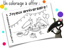 Affichage anniversaire Loup French Classroom, Teaching French, Classroom Management, Preschool, Activities, Ms, Petite Section, Animation, Montessori