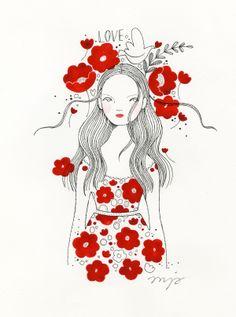 For my sweet daughter #illustration #anjakroencke #flowergarden