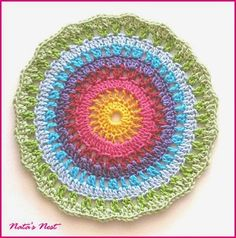 105 Besten Mandalas Häkeln Bilder Auf Pinterest Crochet Doilies