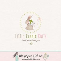 rabbit logo design  bunny logo design baby by ThePaperGirlCo