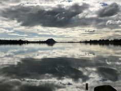 Reflection of clouds in tauranga