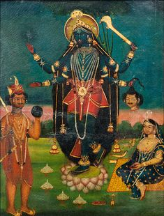 krishna as kali worshiped by radha
