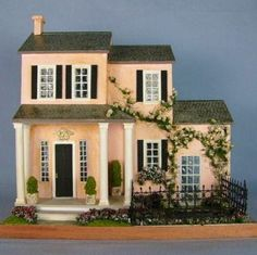 quarter scale dollhouse love the colors on this mini