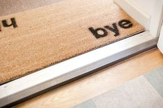 DIY Doormat ... cut out stencils and spray paint by beatrice