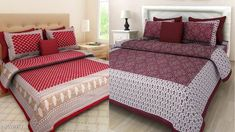 Checkout this latest Bedsheets Product Name: *Combo Pack of Jaipuri Double Bed Bedsheet (2 Bedsheet and 4 Pillow Cover)* Fabric: Cotton No. Of Pillow Covers: 4 Thread Count: 144 Multipack: Pack Of 2 Sizes: Queen (Length Size: 93 in, Width Size: 83 in, Pillow Length Size: 27 in, Pillow Width Size: 17 in)  Country of Origin: India Easy Returns Available In Case Of Any Issue   Catalog Rating: ★4 (422)  Catalog Name: Elite Attractive Bedsheets CatalogID_2032725 C53-SC1101 Code: 956-10974287-3861