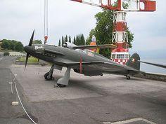 A Fiat G.55 with ANR livery exhibited at the Museo storico dell'Aeronautica Militare di Vigna di Valle, on Bracciano lake, in Lazio region.
