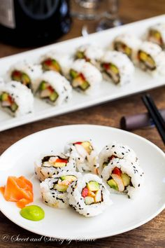 Simple, homemade and fully cooked, sushi rolls