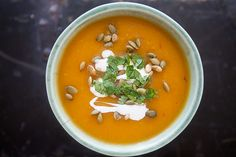 Chipotle Pumpkin Soup Recipe on SimplyRecipes.com