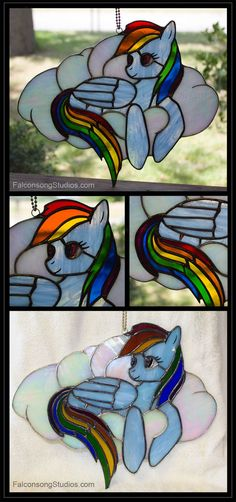 My Little Pony Rainbow Dash Stained Glass by Falconsong
