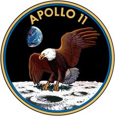 Apollo 11 Mission Insignia -   http://www.ldcfitzgerald.com/one-small-step-for-man-realization-of-jfks-dream-43-years-ago-today/