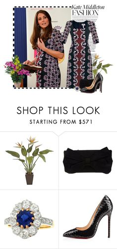 """Kate Middleton"" by missvip92 ❤ liked on Polyvore featuring Valentino, Christian Louboutin, Nearly Natural and contest"