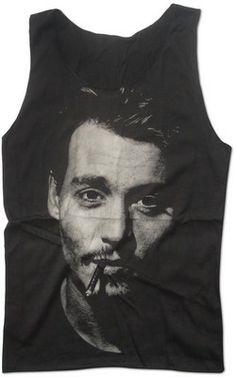 JOHNNY DEPP Tank Top American Actor Shirt Size S M L