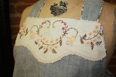Re-purposing those old embroidered doileys! ~~ Great way to asdorn a denim or drab top or jumper!