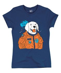 Another great find on #zulily! Navy Astronaut Dog Crewneck Tee #zulilyfinds