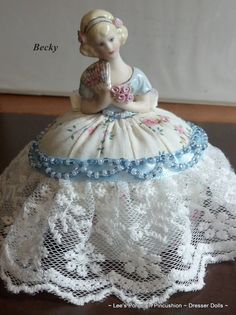 Becky  Porcelain Half Doll Pincushion  by leesvintagetreasures, $62.50