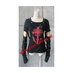 Longsleeve Top Shirt Punk Rave Gothic Punk Rock Emo Visual Kei | eBay ❤ liked on Polyvore featuring tops, shirt top, long-sleeve shirt, punk shirts, long sleeve tops and long sleeve shirts
