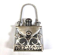 Rucci bolso de plata antigua botella de perfume