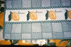 Asciugapiatti limoni punto croce (per me!)