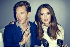 """Benedict Cumberbatch and Keira Knightley. I'm so in love with this picture."" you are not the only one"