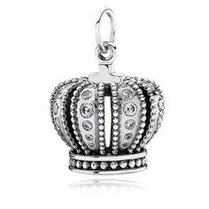 PANDORA   Silver pendant with cubic zirconia