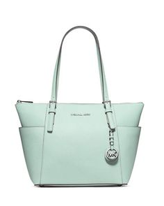 Jet+Set+Top-Zip+Saffiano+Tote+Bag,+Celadon+by+MICHAEL+Michael+Kors+at+Neiman+Marcus.