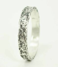 Textured Ring, Sterling Silver Ring, Metalsmith Jewelry by HollyPresley on Etsy https://www.etsy.com/listing/214858663/textured-ring-sterling-silver-ring
