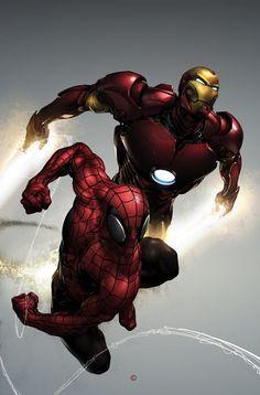 Carnage #1 (Spider-Man & Iron Man Variant) by Comic Artist Clayton Crain