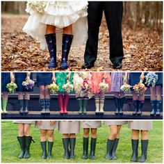 depending on the dress, rubber boots might just be the wedding footwear for me!  :-)