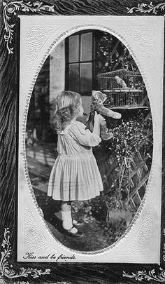 I love old photos of children and their teddy bears.