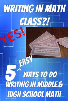 Writing in math class can be hard. Here are five easy ways to incorporate writing into math class. via @suryachronister