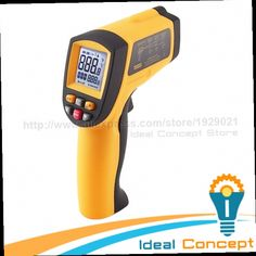 43.99$  Buy here - http://ali57x.worldwells.pw/go.php?t=32517808103 - 12:1 DS Pyrometer Digital Infrared IR Non-Contact Laser Thermometer 0.10~0.99 EM 43.99$