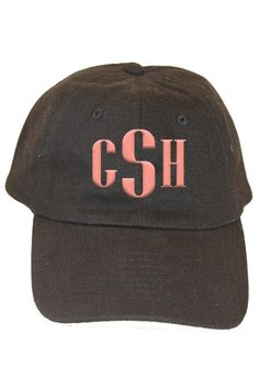 This personalized black baseball hat is a 6 panel, unstructured, low profile hat made of cotton twill with an adjustable strap to fit most adults. It makes for a wonderful birthday gift or graduation gift! Turnaround time is 5-7 business days. For customization, please email Stylist@shoptiques.com with your choice of thread color, monogram style and monogram initials. All custom items are final sale.   Personalized Black Baseball Hat by Party Cat. Accessories - Hats Austin, Texas