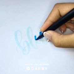 Blending with Blue Tombow Dual Brush Pens #darbysmart #diy #diyprojects #diyideas #diycrafts #easydiy #artsandcrafts #calligraphy #brushpens #handlettering
