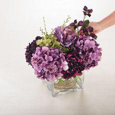 Fake Flower Arrangement Diy Silk Arrangements Artificial Fl Centerpieces