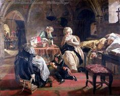 The Royal Family Of France In The Prison Of The Temple. Edward Matthew Ward (1816 – 1879, English).