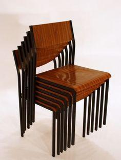 60er-SET-6-STUHLE-STUHL-modern-60s-BRUNE-chairs-chaises-a-60-steel-fer-bentwood