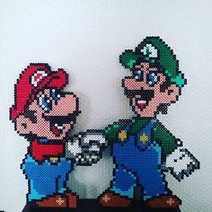 Mario and Luigi perler beads by bertrandlablee