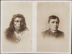 Intensas Fotos Históricas                 1882: Tom Torlino, um índio da tribo Navajo, antes e depois de sua assimilação